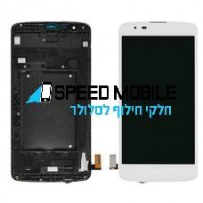 מסך לבן עם מסגרת LG K8 K350N