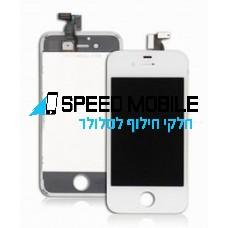 מסך לבן לאייפון 4
