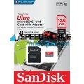 כרטיס SanDisk Micro SD Ultra 128GB 100MBS Class 10