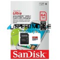 כרטיס SanDisk Micro SD Ultra 64GB 80MBS Class 10